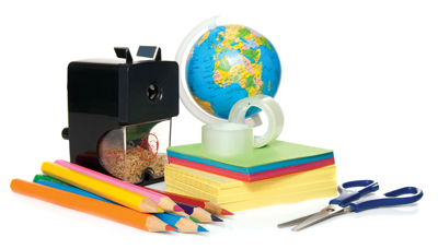 classroom supplies, school supplies; teacher's utensils