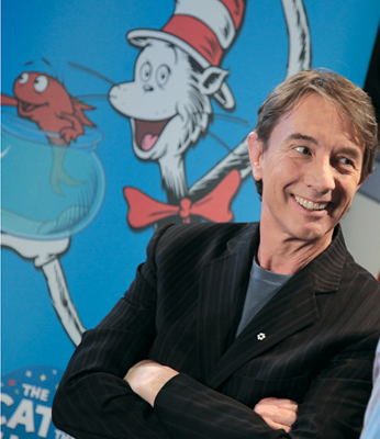 Martin Short, voice of the Cat in PBS series The Cat in the Hat Knows A Lot About That