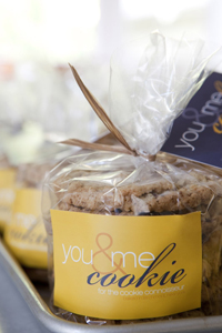 You & Me Cookie product shot; gourmet cookies