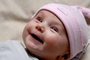 smiling baby; happy newborn