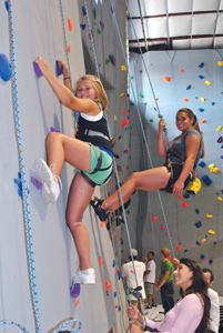 Carabiner's Indoor Climbing center in Fairfield, CT; indoor rock climbing, kids
