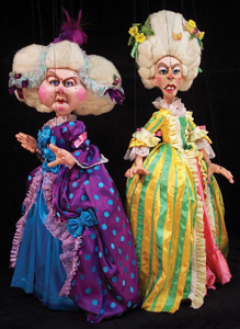 Tanglewood Marionettes; Cinderella's evil stepsisters; puppets