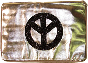 Flowers by Zoe laptop cover, peace sign