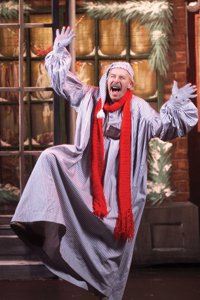 "Ebenezer Scrooge in ""A Christmas Carol"" musical"
