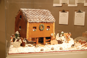 gingerbread house on display