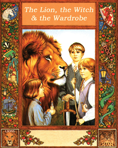 The Lion, the Witch & the Wardrobe; Chronicles of Narnia, second book; book cover; C.S. Lewis
