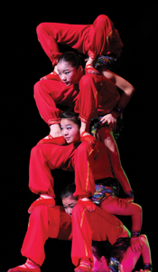 Shangri-La Chinese acrobats