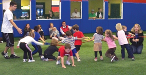 The Sports Place; kids playing tug of war