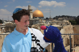 Shalom Sesame; Grover and friend; Can Grover Find the Missing Menorah?