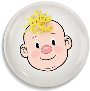 Dapper Dan the Magnetic Man; foodface plate