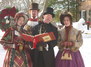 Christmas carolers at Historic Richmond Town