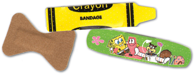 children's bandaids, colorful