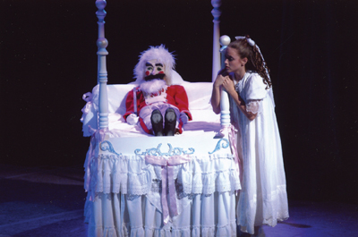"Clara and her nutcracker soldier in ""The Nutcracker"" ballet"