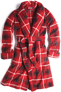 red plaid robe from American Living