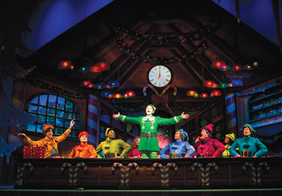 a scene from Elf: The Musical on Broadway