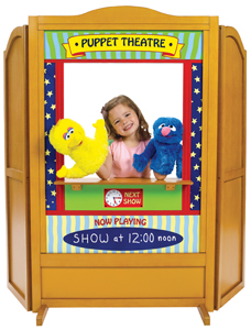 4-in-1 play center; puppet theatre for kids