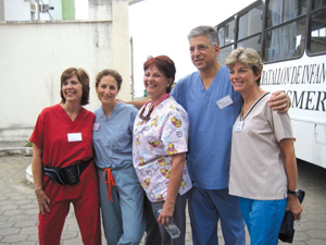 Rockland Pediatric Dental team in Ecuador