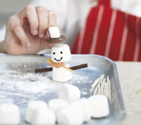 how to make a marshmallow snowman