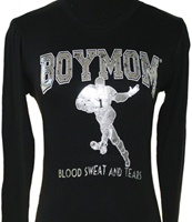 BoyMom long sleeve black t-shirt