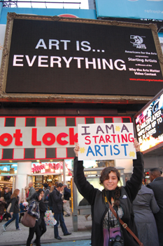 Julia Velez is a Starting Artist in Times Square