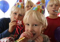 young boys at birthday party