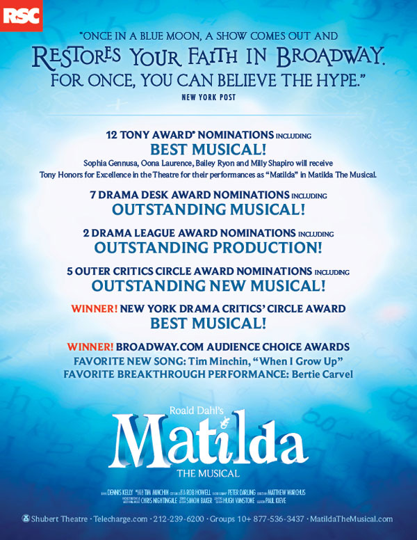 Matilda Broadway Reviews
