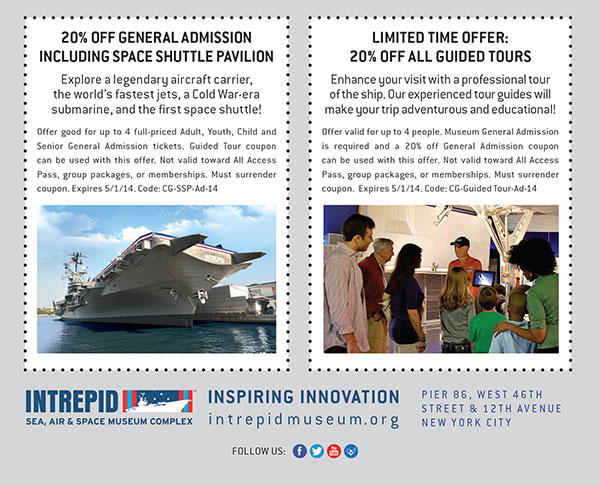 Intrepid Museum Coupon