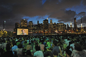 outdoor movie in Brooklyn