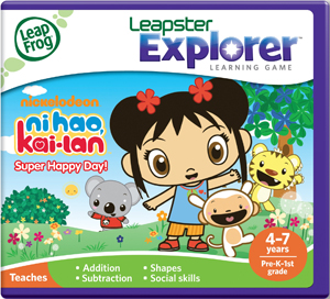 Ni Hao Kai Lan in Super Happy Day! learning game by Leapster Explorer