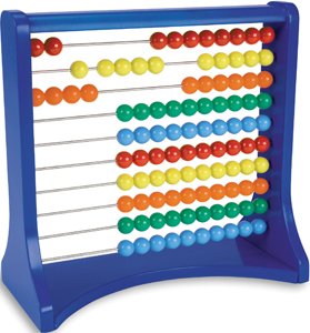 10 row abacus; colorful abacus for kids
