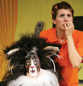 If You Give a Cat a Cupcake on stage; theater; children's show