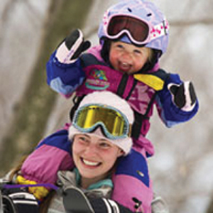 toddler in ski clothes; baby skiing