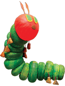 The Very Hungry Caterpillar; Mermaid Theatre of Nova Scotia; caterpillar puppet