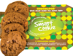 the original smart cookie, chocoloco; cookies made with vegetables
