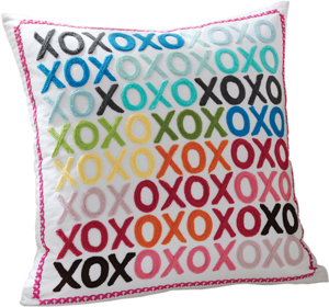 XOXO throw pillow from PB Teen; pottery barn teen pillow