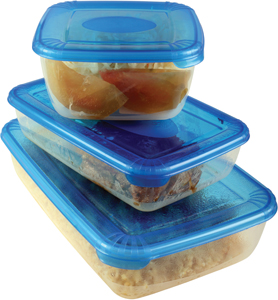 food in tupperware; frozen food in tupperware