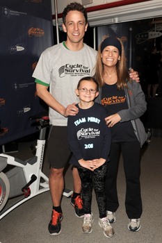 2011 NYC MSKCC Cycle for Survival; Seth Meyers of SNL, Jennifer Goodman Linn, and Perry Zimmerman