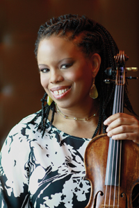 Regina Carter with fiddle