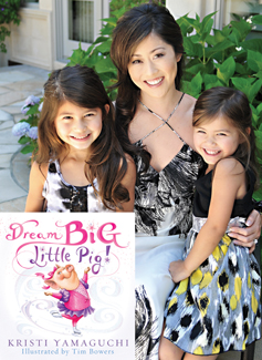 Kristi Yamaguchi and her daughters