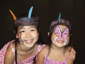 Long Island Children's Musuem; children with bug face paint