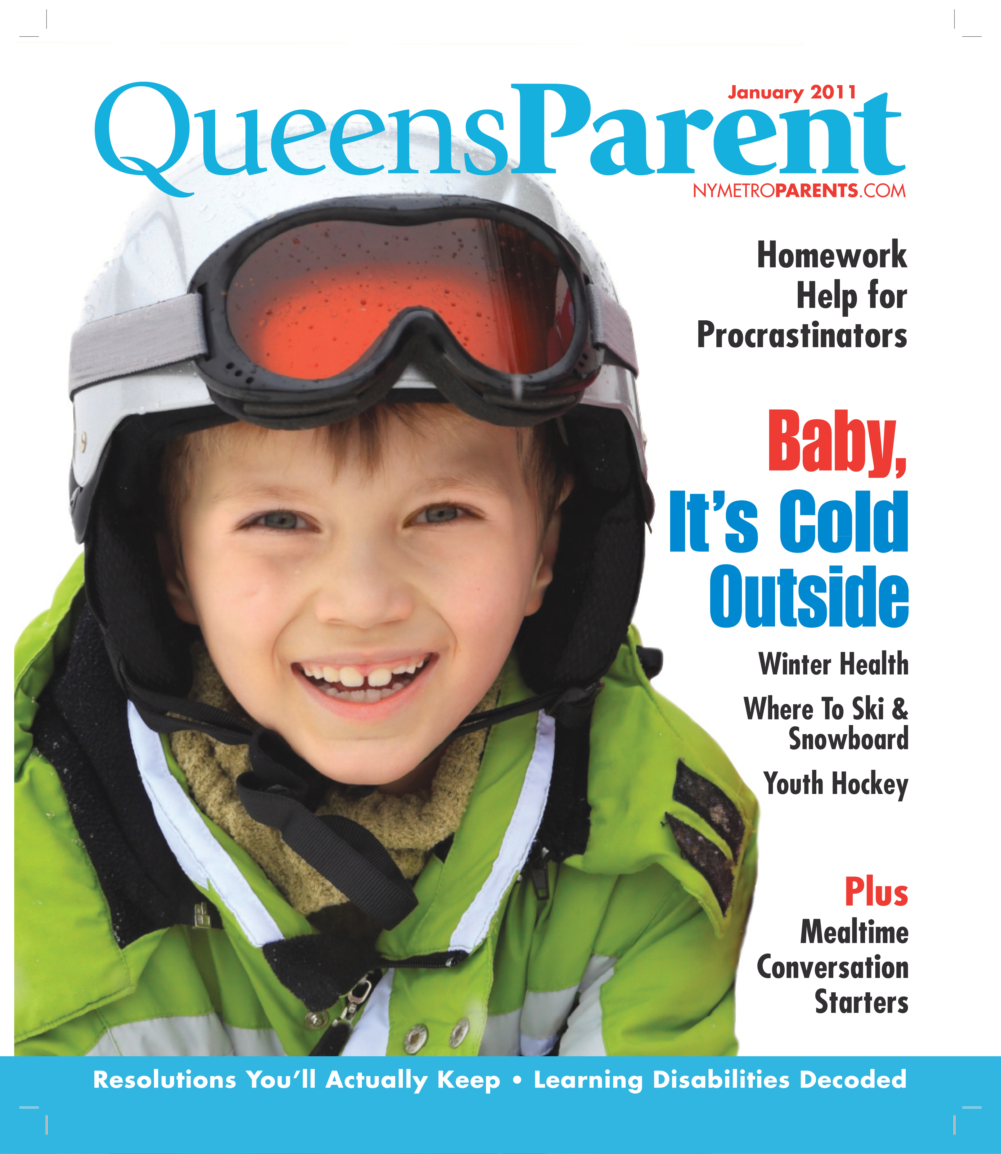 Queens Parent magazine, January 2011 cover