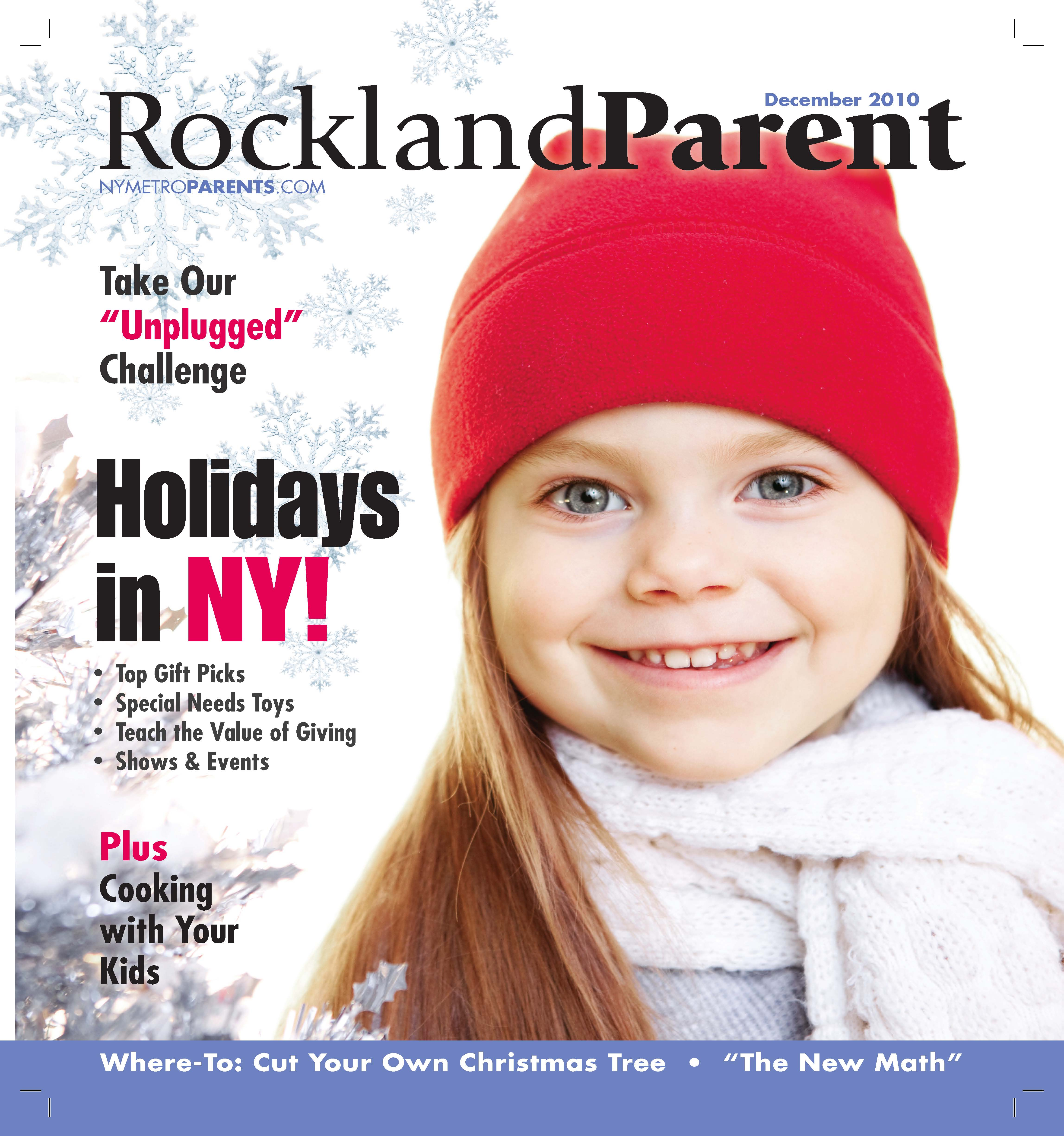 Rockland Parent magazine, january 2011 cover