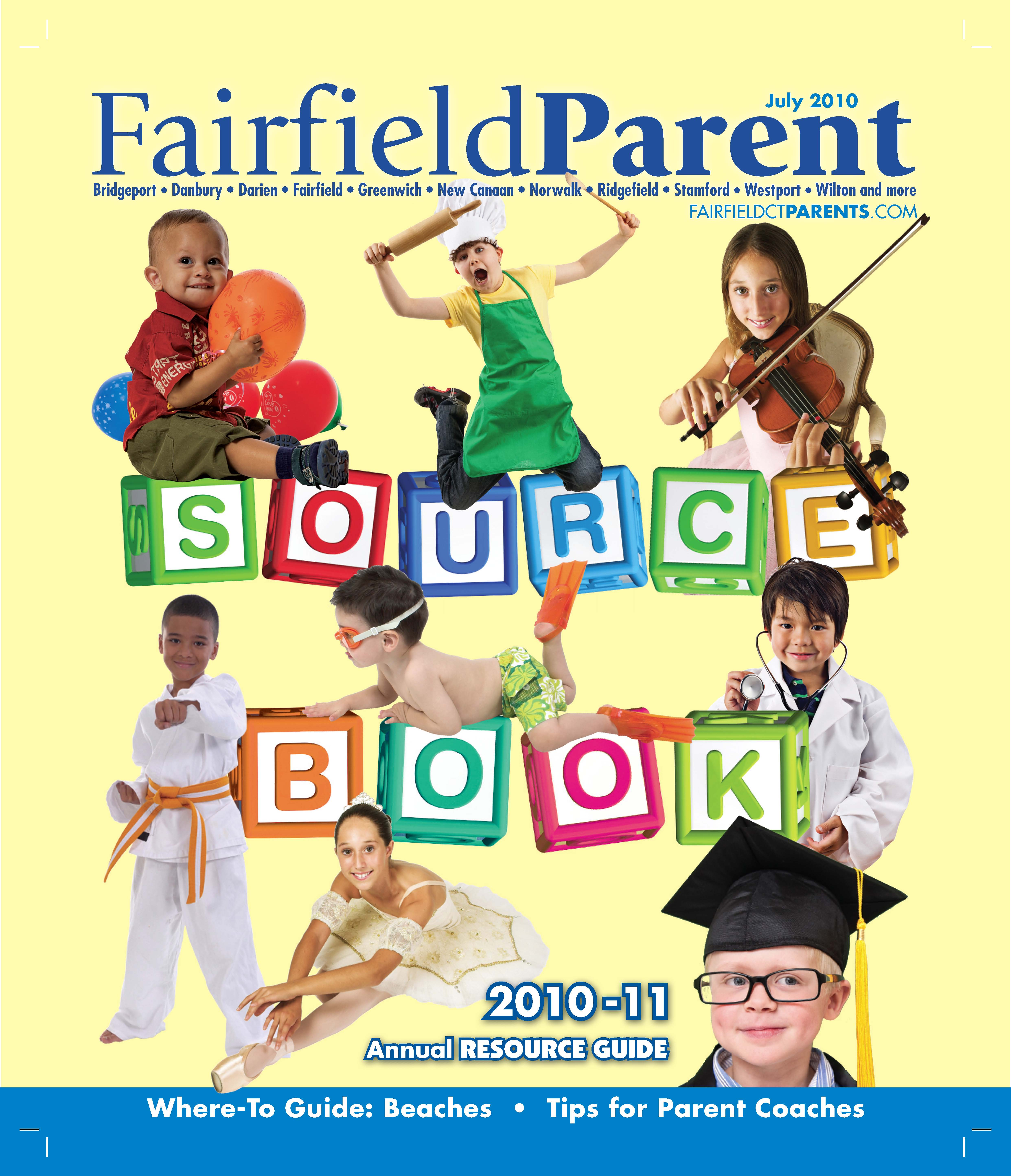 Fairfield Parent magazine, Source Book July 2010