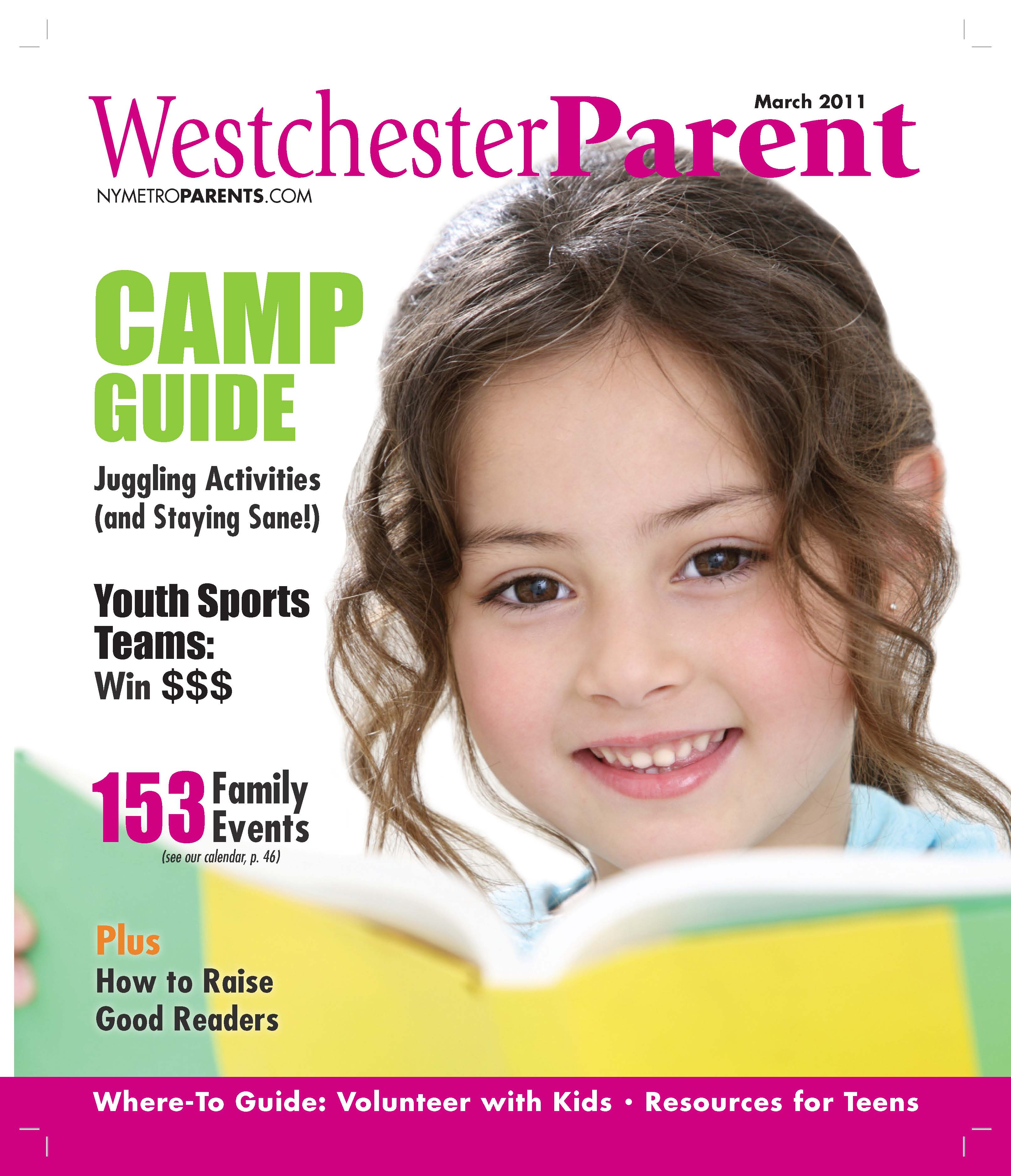 Westchester Parent magazine, march 2011 cover