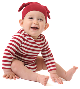 Yala Bamboo Dreams double-knot hat and onesie in red