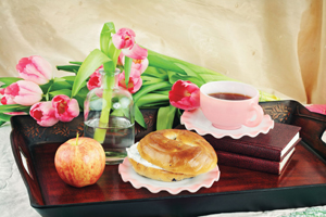 Mother's Day breakfast in bed; Mother's Day activities on Long Island