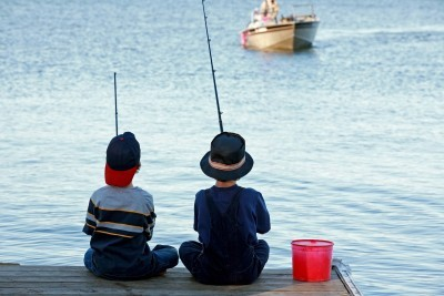 boys-fishing; sunny-summer-fishing