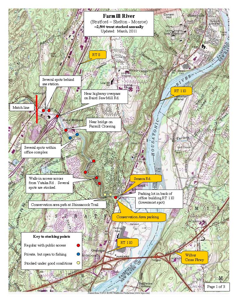 farmill-river-shelton, trout-stocking-map