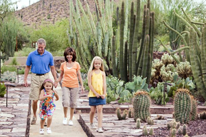 family vacation in Phoenix, Arizona; Desert Botanical Garden