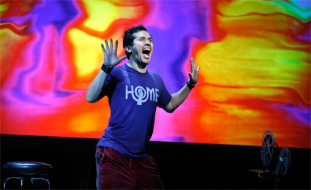 John Leguizamo in his one-man show Ghetto Klown, directed by Fisher Stevens. Photo - Carol Rosegg 2011